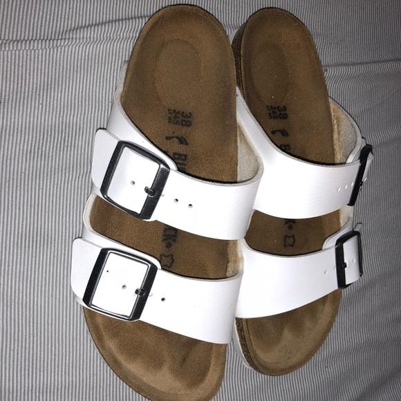 45ea15e6df7 Birkenstock Shoes - Birkenstock Arizona white 38